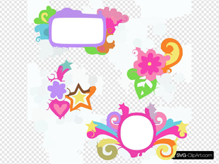Depositphotos Groovy Picture Frames Psychedelic Doodles Vector Design