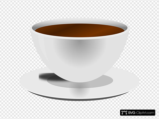Mokush Realistic Coffee Cup Front D View