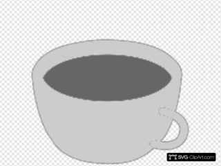 Grayscale Coffee Cup