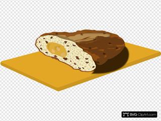 Christmas Bread On Cutting Board