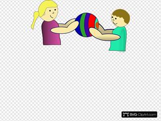 Nlyl Children Sharing A Ball