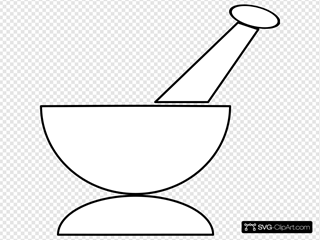 Mortar And Pestle SVG Clipart