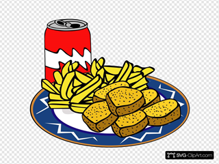 Coke Can Chicken Nuggets French Fries