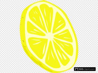 Lemon (slice) SVG Clipart