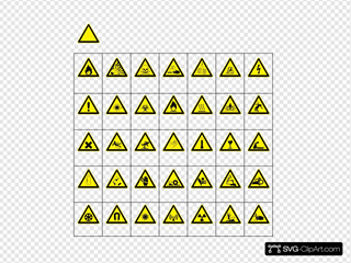 Sign Hazard Warning SVG Cliparts