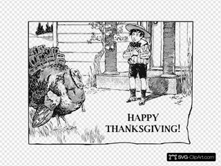 A Boy And His Turkey
