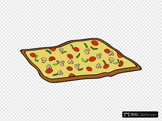 Rectangular Veggie Pizza