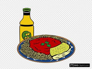 Milk Energy-drink Spaghetti Sauce Garlic Bread