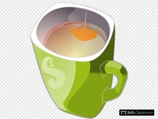 Zielony Kubek Herbaty - Green Mug Of Tea