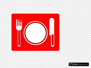 Restaurant Icon Red