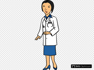 Woman Doctor 1 SVG Clipart