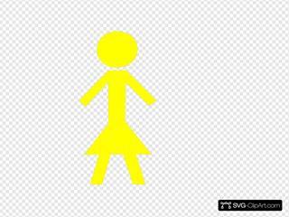 Stick Girl Yellow