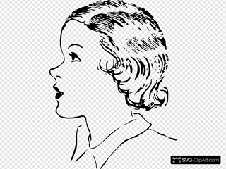 Girls Hair Style 2 SVG Clipart