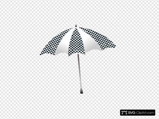 Chequered Umbrella