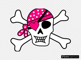 Pink Pirate Cross Bones
