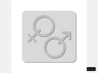 Gender Sign Symbol SVG Clipart