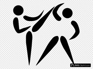 Olympic Sports Taekwondo Pictogram