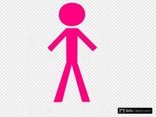 Pink Stickgirl