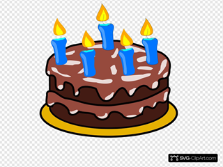 Birthday Cake 2 SVG Clipart