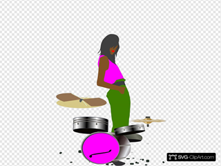 Black Girl With Drums