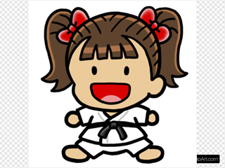 Girl Karate Character