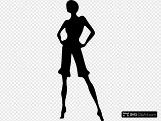 Tall Woman Silhouette