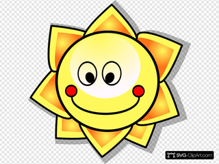 Smiling Cartoon Sun Clip art, Icon and SVG - SVG Clipart