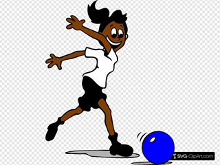 Girl Playing Football For Squad