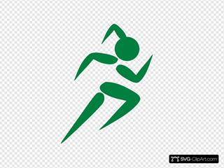 Girl Running Green