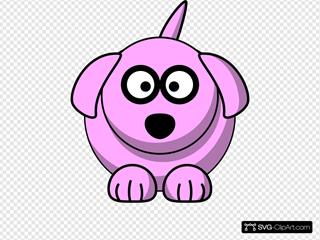 Pink Cartoon Dog
