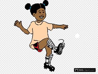 Girl Soccer Buble
