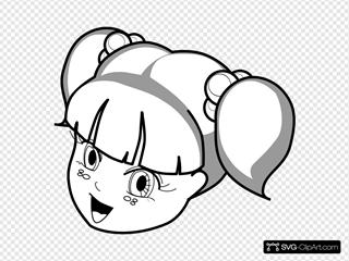 Anime Girl Outline