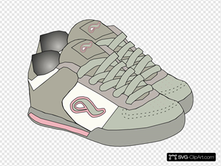 Clothing Shoes Sneakers SVG Clipart