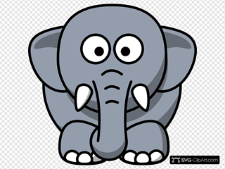 Cartoon Elephant SVG Clipart