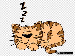 Cartoon Cat Sleeping