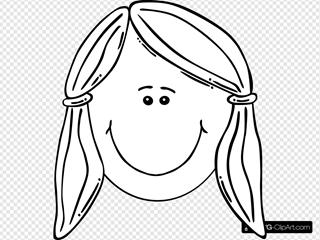 Face Of Girl Outline