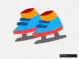 Ice Skates SVG Clipart