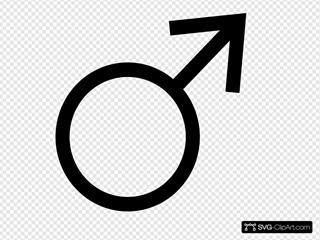 Male Symbol SVG Clipart