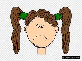 Sad Brown Hair Girl