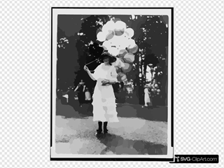 Mrs. Orme Thornberry, Balloon Girl At The Near East Relief Benefit Garden Fete]