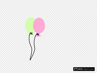 Green And Pink Balloon