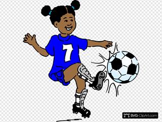 Girl Playing Footy