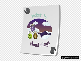 Paradise Ticket Cloud Rings