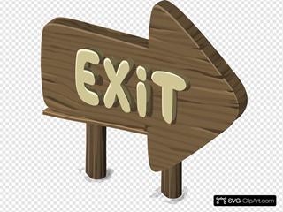 Alpine Landscape Exit Sign
