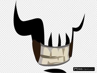Avatar Vanity Mouth Skull SVG Clipart