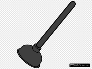 Gray Toilet Plunger