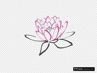 Pink Abstract Lotus
