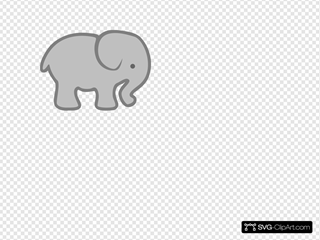 Gray Elephant Outline