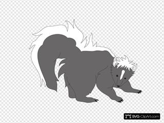 Furry Gray Skunk