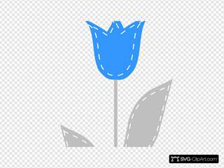 Blue And Gray Tulip